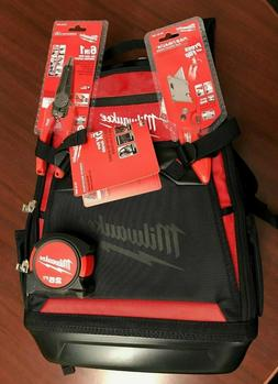 NEW Milwaukee 48-22-8200 Jobsite Backpack WITH MILWAUKEE Too