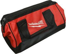 """New Milwaukee Tool Bag 13"""" x 6"""" x 8"""" Heavy Duty Canvas Tool"""