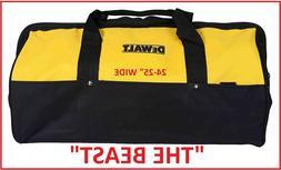 NEW DEWALT OVERSIZED Heavy Duty Wide Mouth Tool Bag W/11 Poc