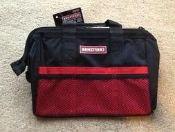 NEW CRAFTSMAN RED BLACK WIDE-MOUTH TOOL BAG 13-IN 6 POCKETS