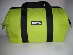 Ryobi One Contractors Canvas Green Wide-Mouth Tool Bag Tool