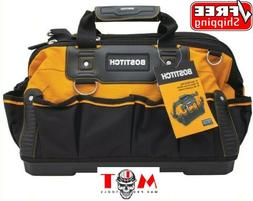 BOSTITCH Open Mouth Tool Bag, 14-Inch Deep Tool Box Organize