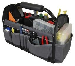 Open Top Electricians Tool Bag Stiff Frame Tote Tools Box Ut