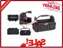 HyperTough 16 Inches Open Top Tote Black Tool Kit Box Handle