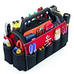 "Husky GP-44118AN13 17"" Open Tool Tote with Rotating Handle"