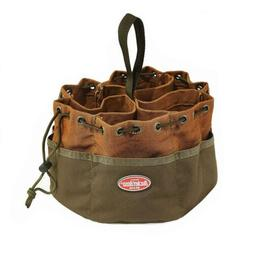 Bucket Boss Parachute Bag Small Parts in Brown, 25001