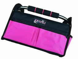 Pink Tote Bag Multi-Purpose Collapsible Wide Mouth Tool Box