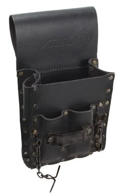 Tool Pouch, Heavy Duty, Top-Grain Leather, Black, Greenlee,