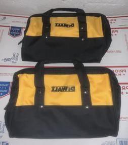 "Qty 2 DEWALT 15"" X 11"" X 10"" Large Tool Bag With 3 Out"
