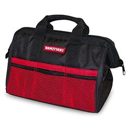 "Craftsman 13"" Reinforced Wide Mouth Tool Bag with 6 Exterior"