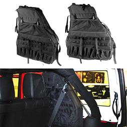 SUNPIE Roll Bar Storage Bag Cage for 2007~2017 Jeep Wrangler