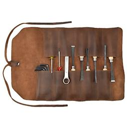 Rustic Leather Small Tool Roll Handmade by Hide & Drink :: B