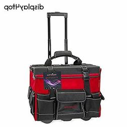 "Display4top 18"" Rolling Tool Bag with Handle"