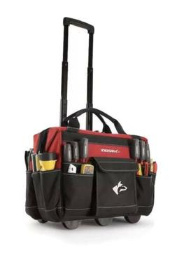 Rolling Tool Tote 18 in. Bag Storage Organizer Heavy Duty Po