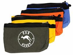 Roo Pouch Tool Bag Includes 4 Heavy Duty Canvas Zipper Tool