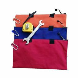 "Small Canvas Zipper Tool Bag 9.5"" Heavy Duty Tool Pouch Tote"
