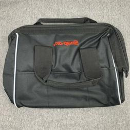 """Snap-On Tools Power Tool Tote Carry Bag Black 10""""x12"""" Br"""