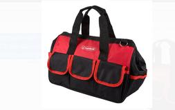 Soft Sided Tool Bag With Wide-Mouth Storage, Storage Pockets