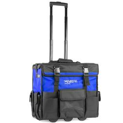 """""""Stark"""" Rolling Wide Tool Bag Tote Telescoping Handle With T"""