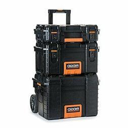 RIDGID Professional Tool Storage Cart And Organizer Stack, 3