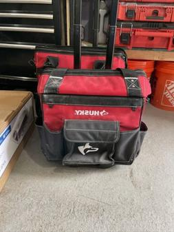 Storage Portable Organizer Husky Rolling Tool Tote Bag 14 in