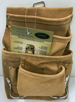 SUEDE LEATHER 10-pkt Carpenter Nail&Tool Pouch waist Bag Ham