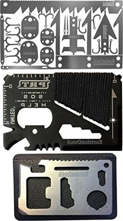 Survival MultiTool Card  Bug Out Bag CampingTool: 3 Best Mul