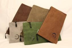 T&S Grand 5 pack - 16oz Heavy Duty Waxed Canvas Zipper Pouch