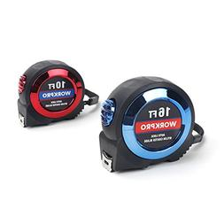 WORKPRO 2-piece Tape Measure Set - Auto Lock 10Ft and 16Ft M