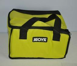 "RYOBI TOOL BAG 12"" X 10"" X 8"" CASE FOR TOOLS, CRAFTS, GENERA"