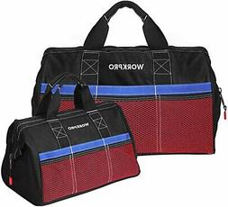WORKPRO Tool Bag, 13-inch and 18-inch Tool Storage Bag, Zip-