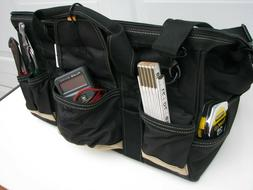Tool Bag Tote Heavy Duty Canvas Large with Zipper, Pouches,