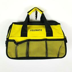 Stanley Tool Bag Zipper Top Nylon Tote With Mesh Pockets Yel