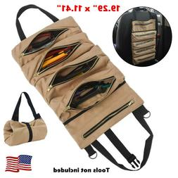 Tool Roll Up Bag Canvas Pouch Tools Tote Carrier Holder Slin