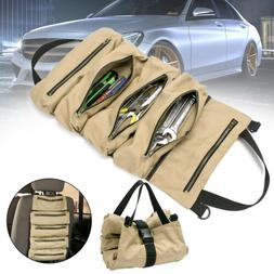 Tool Bag Organizer Roll Up Canvas Pouch Tools Tote Carrier H