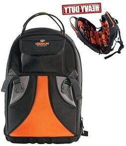 Rugged Tools Tradesman Tool Backpack - 28 Pocket Heavy Duty