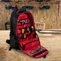 Tradesman Tool Backpack Heavy Duty Jobsite Tool Bag 26 Pocke