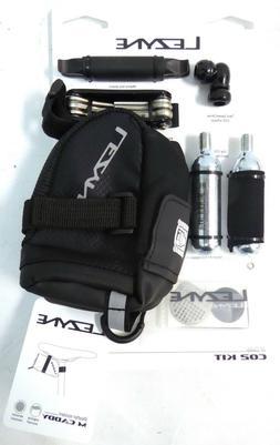 Lezyne Twin Drive Caddy Bike Kit w/CO2 Inflator,Tire Lever,S