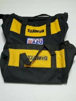 "Two  DeWALT 11"" Heavy Duty Contractor Tool/Lunch Bag Tote Ma"