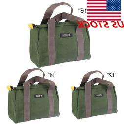 US  Canvas Waterproof Storage Hand Tool Bag Portable ToolKit