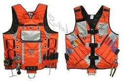 High Visibility Tool Vest with Built in Hydration Pouch Elec