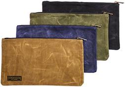 Waxed Canvas Zipper Tool Bags Durable Water Resistant Multi