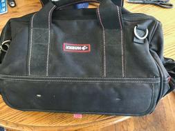Husky Wide Mouth Heavy Duty Tool Bag / w Electrician Storage