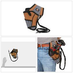 Work Gear Tool Belt Pouch Bag 5 Pocket Drill Holster W Safet
