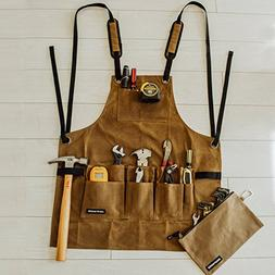Work Shop Apron by Angry Beaver | BONUS Canvas Zipper Tool P