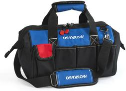 Workpro Tool Bag Multi Pocket Tool Organizer With Adjustable