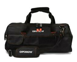 """WORKPRO W081023A Close Top Storage Tool Bag, 18"""", Black/Red"""