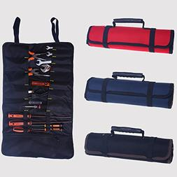 Hense Large Wrench Roll Up Tool Roll Pouch Bag, Big Tote Car