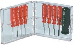Xcelite PS89 Compact Hex Socket Screwdriver Set, 9-Piece