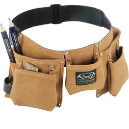 Real leather kids tool belt - woodworking gift set with chil